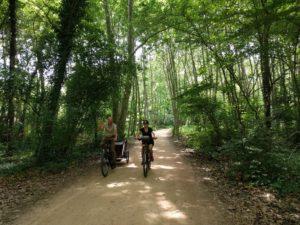 Paul & Celeste op de fiets in Girona